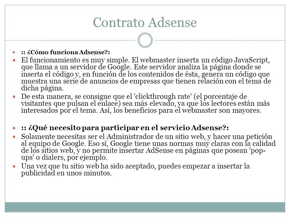 Contrato Adsense :: ¿Cómo funciona Adsense :