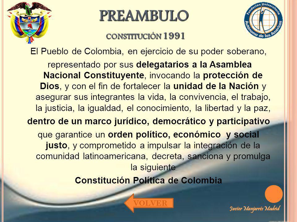 PREAMBULO constitución 1991