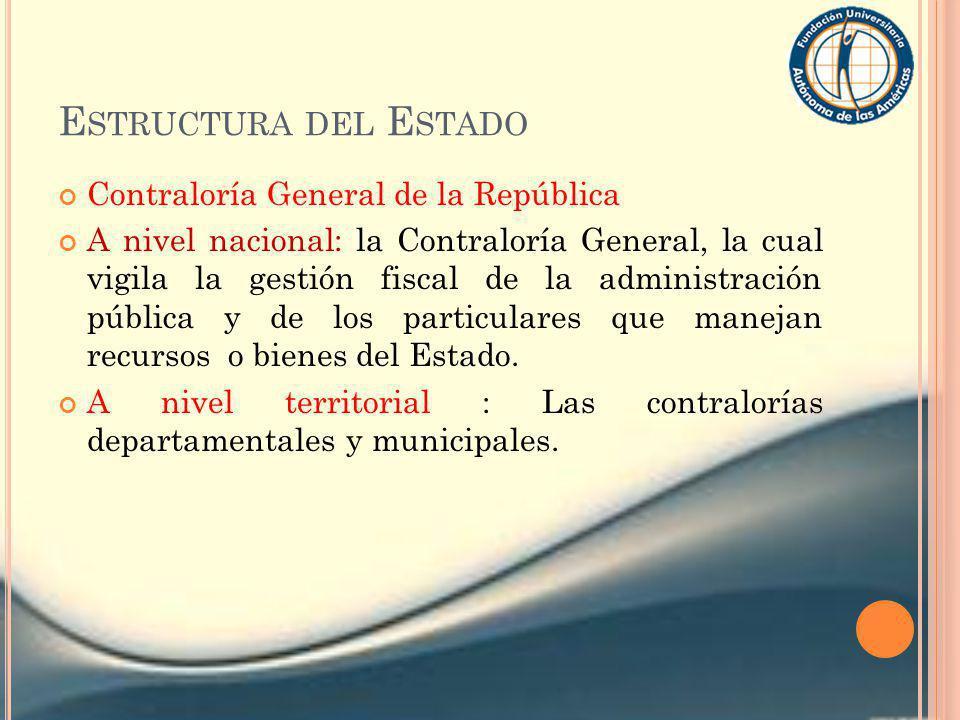 Estructura del Estado Contraloría General de la República