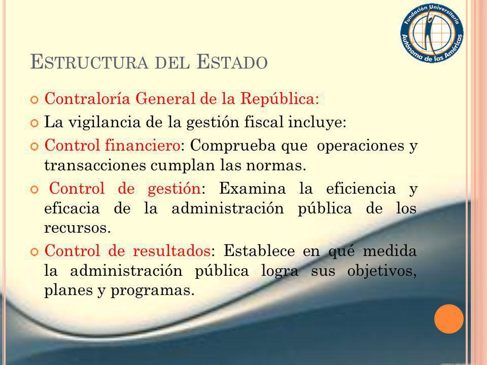 Estructura del Estado Contraloría General de la República: