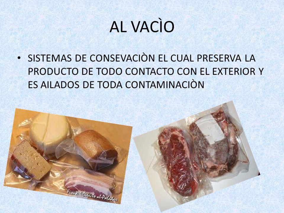 AL VACÌO SISTEMAS DE CONSEVACIÒN EL CUAL PRESERVA LA PRODUCTO DE TODO CONTACTO CON EL EXTERIOR Y ES AILADOS DE TODA CONTAMINACIÒN.