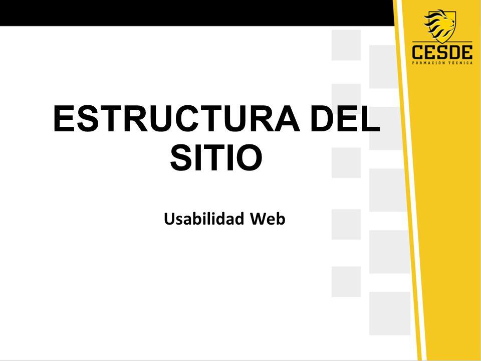 ESTRUCTURA DEL SITIO Usabilidad Web