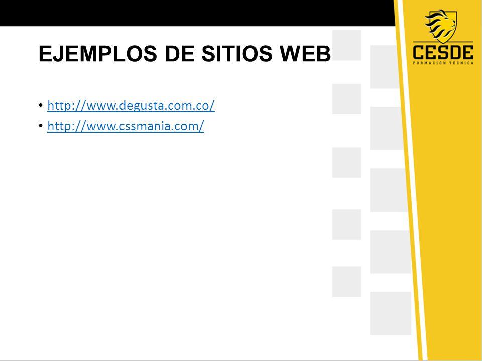 EJEMPLOS DE SITIOS WEB http://www.degusta.com.co/