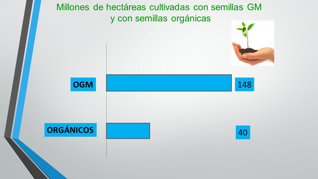 Millones de hectáreas cultivadas con semillas GM