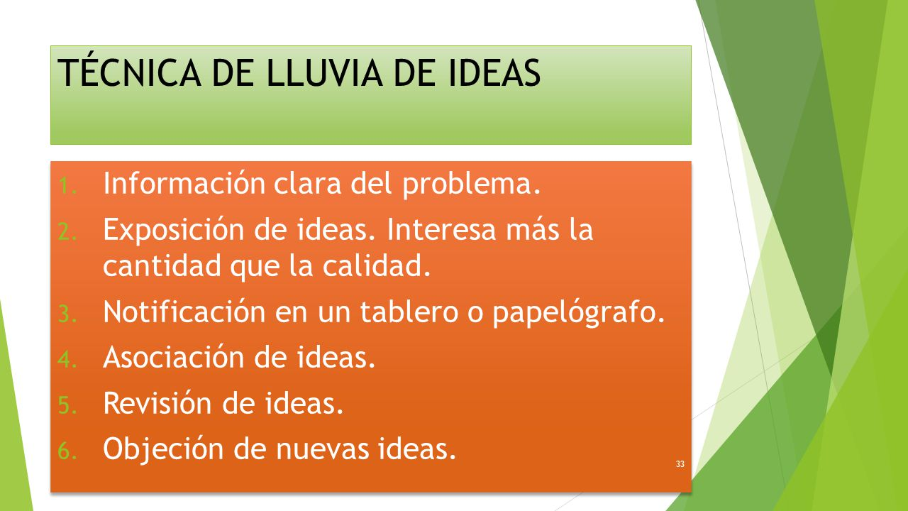 TÉCNICA DE LLUVIA DE IDEAS