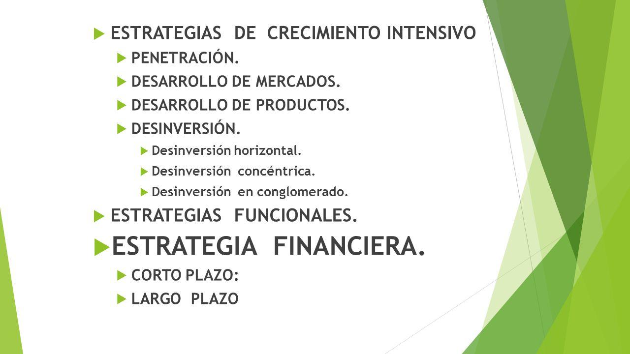 ESTRATEGIA FINANCIERA.
