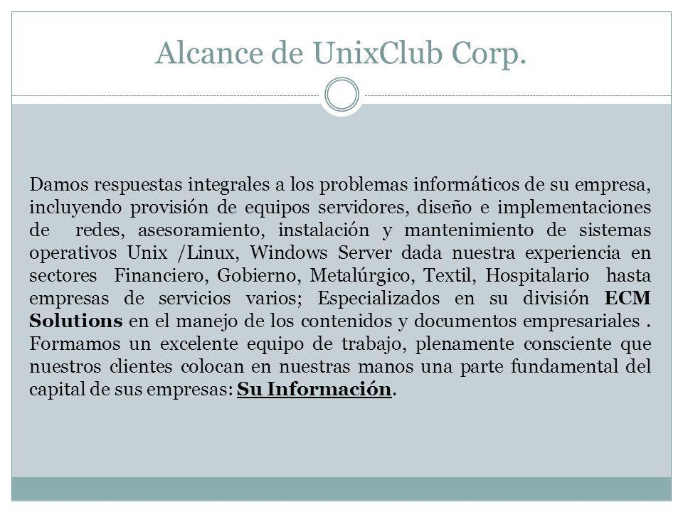 Alcance de UnixClub Corp.