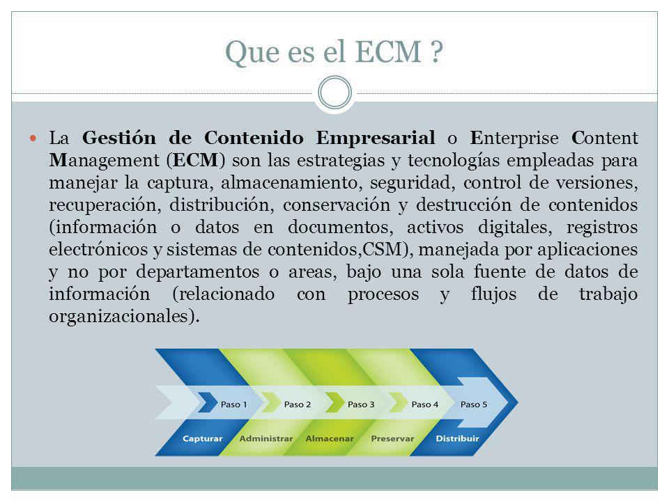 Que es el ECM