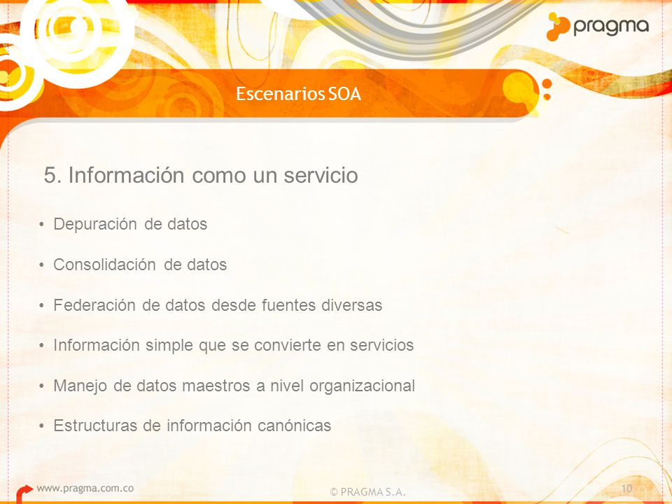 5. Información como un servicio