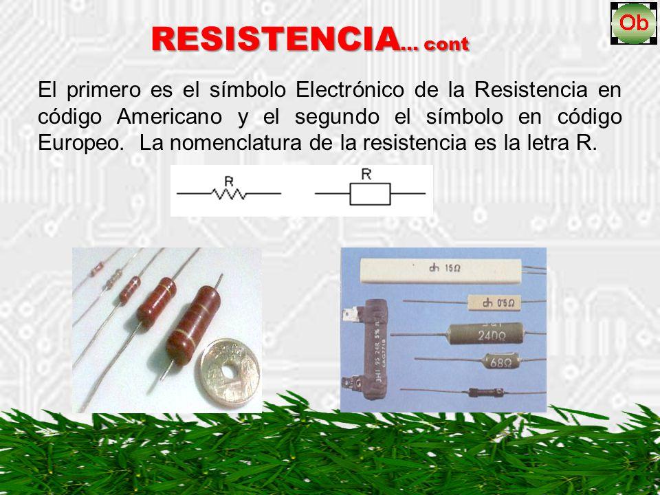 RESISTENCIA… cont