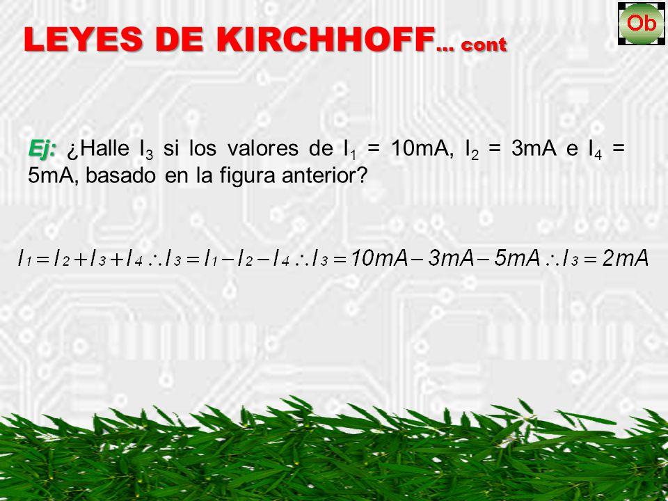 LEYES DE KIRCHHOFF… cont