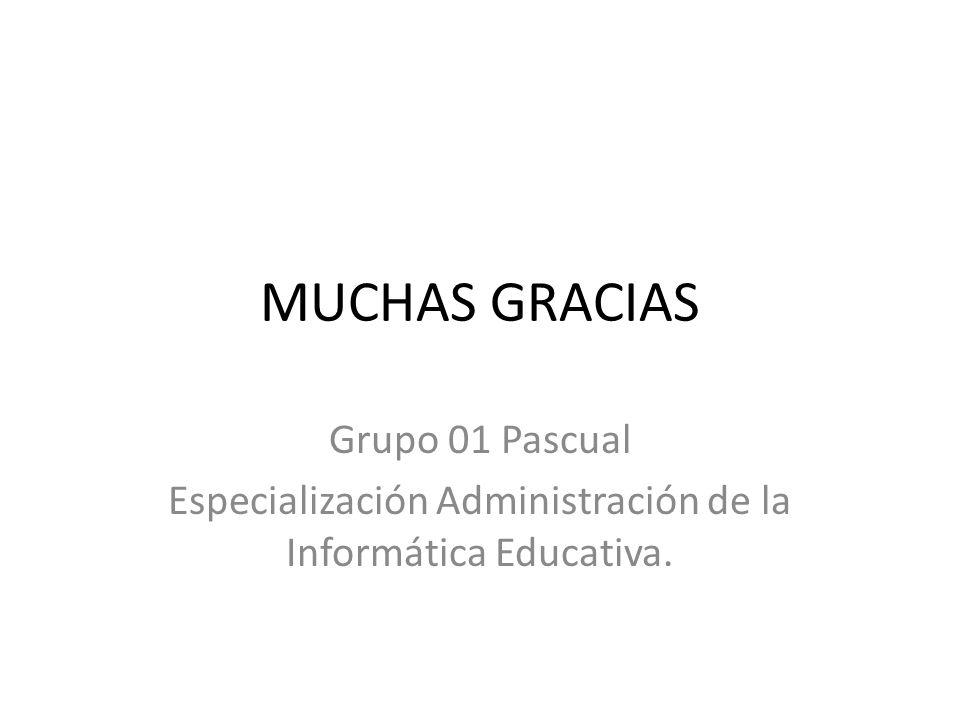 Especialización Administración de la Informática Educativa.