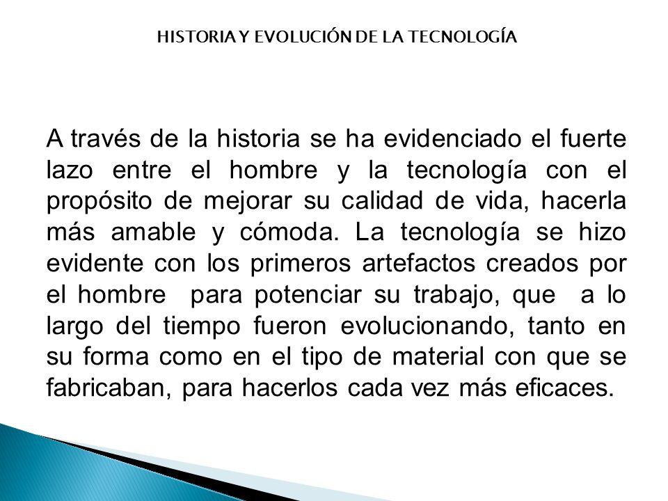 HISTORIA Y EVOLUCIÓN DE LA TECNOLOGÍA