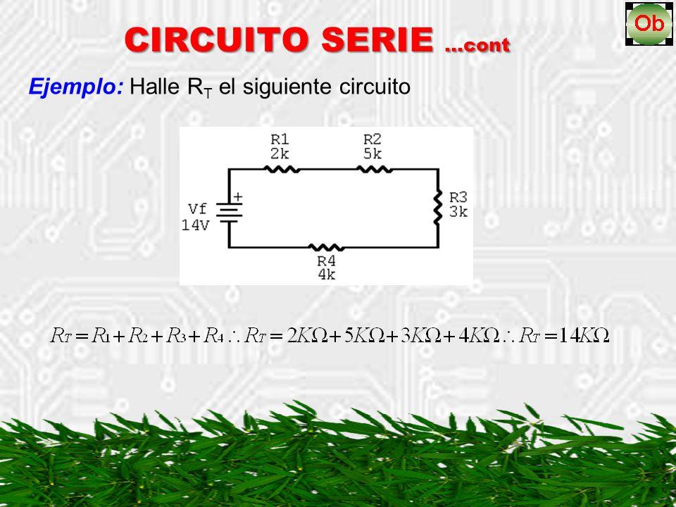 Ejemplo: Halle RT el siguiente circuito