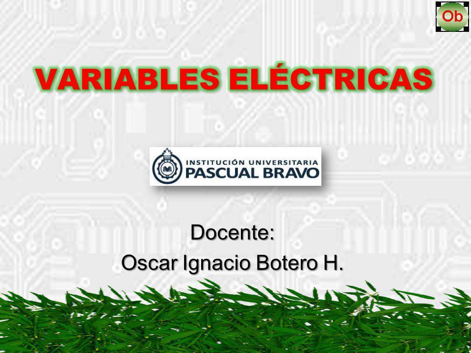 Docente: Oscar Ignacio Botero H.