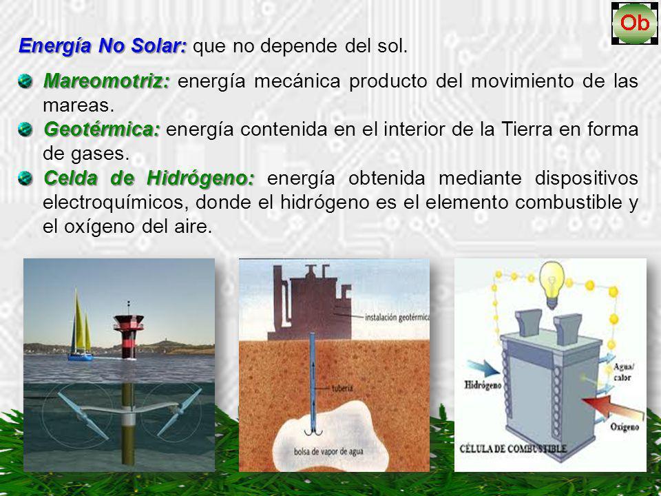 Energía No Solar: que no depende del sol.