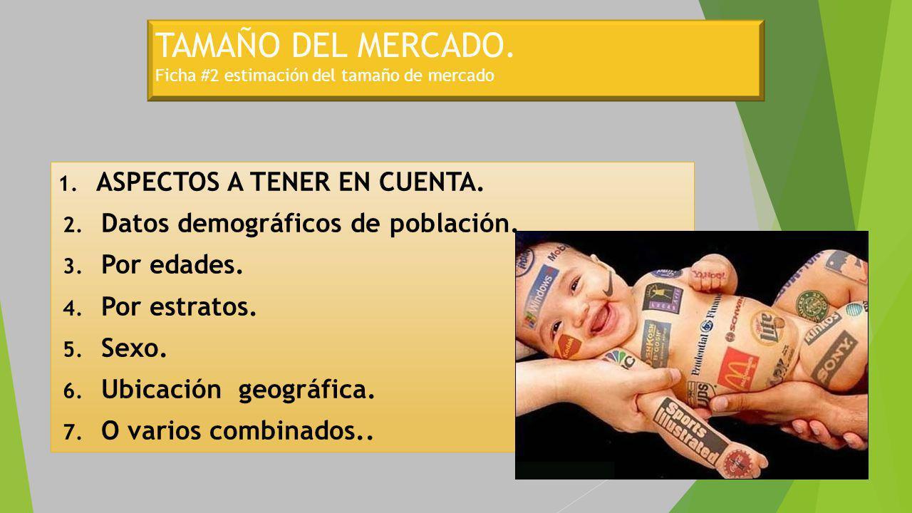 TAMAÑO DEL MERCADO. Ficha #2 estimación del tamaño de mercado