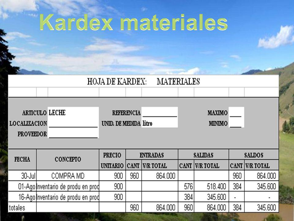 Kardex materiales
