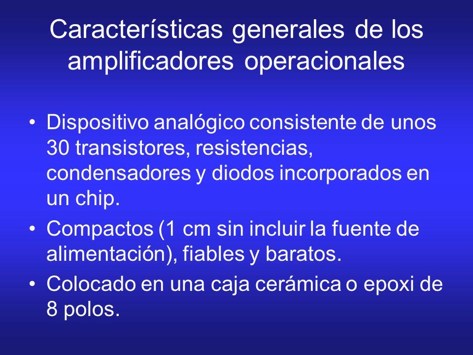 Características generales de los amplificadores operacionales