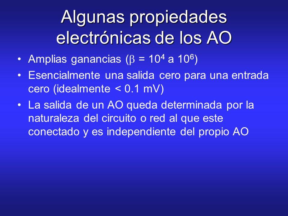 Algunas propiedades electrónicas de los AO