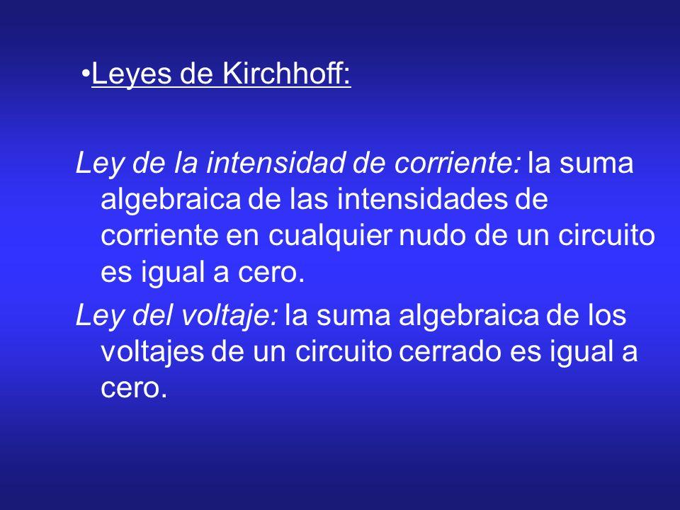 Leyes de Kirchhoff: