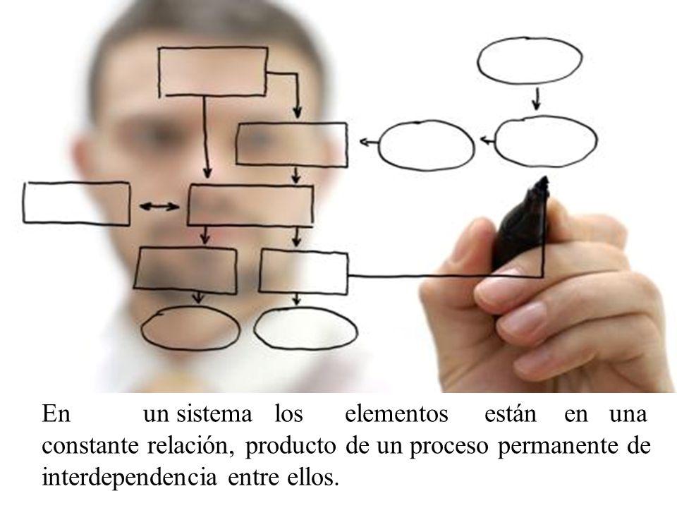 En un sistema los elementos están en una constante relación, producto de un proceso permanente de interdependencia entre ellos.