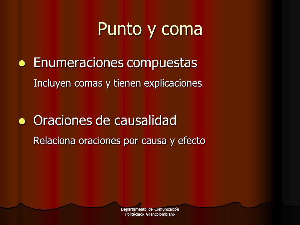 Departamento de Comunicación Politécnico Grancolombiano