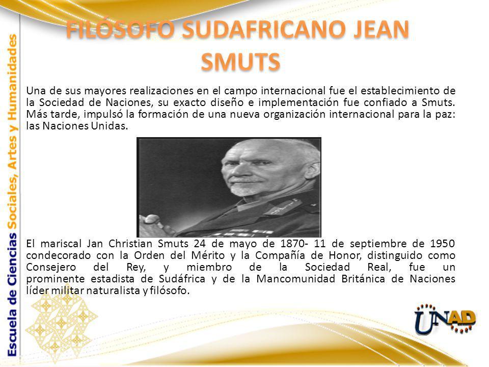 FILÓSOFO SUDAFRICANO JEAN SMUTS