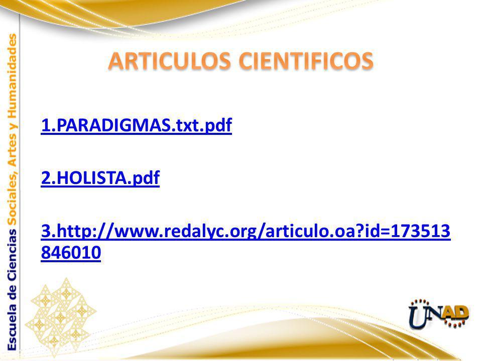 ARTICULOS CIENTIFICOS