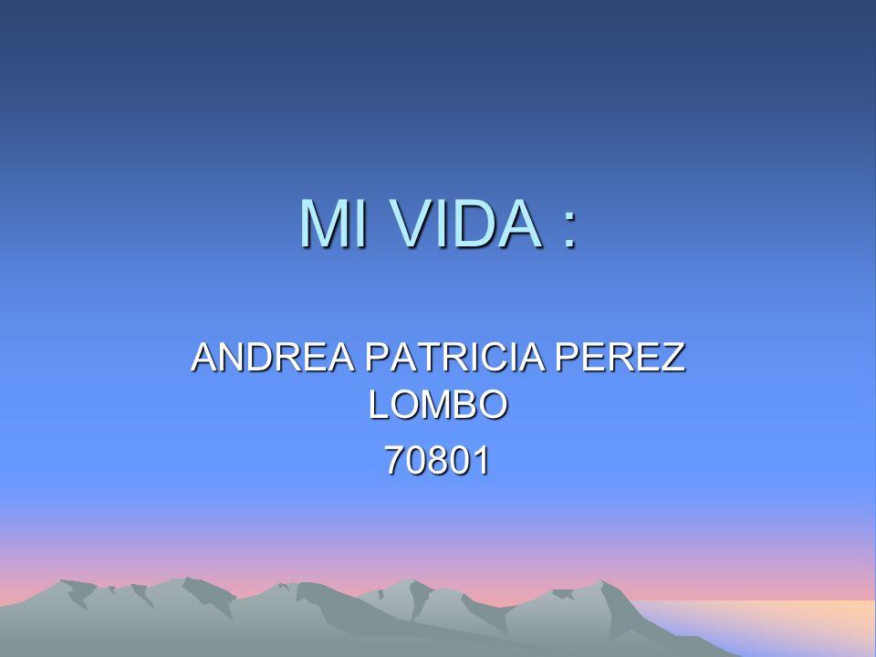 ANDREA PATRICIA PEREZ LOMBO 70801