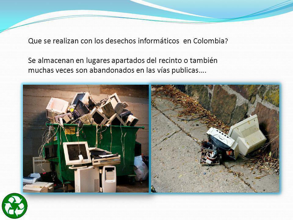 Que se realizan con los desechos informáticos en Colombia