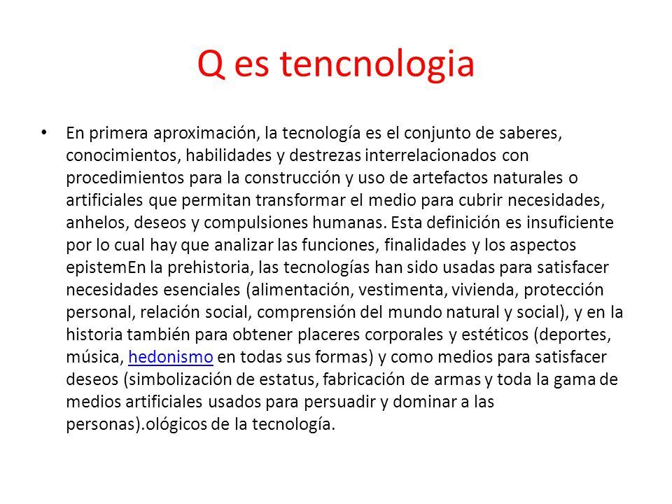 Q es tencnologia