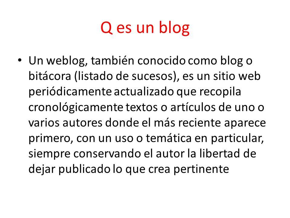 Q es un blog