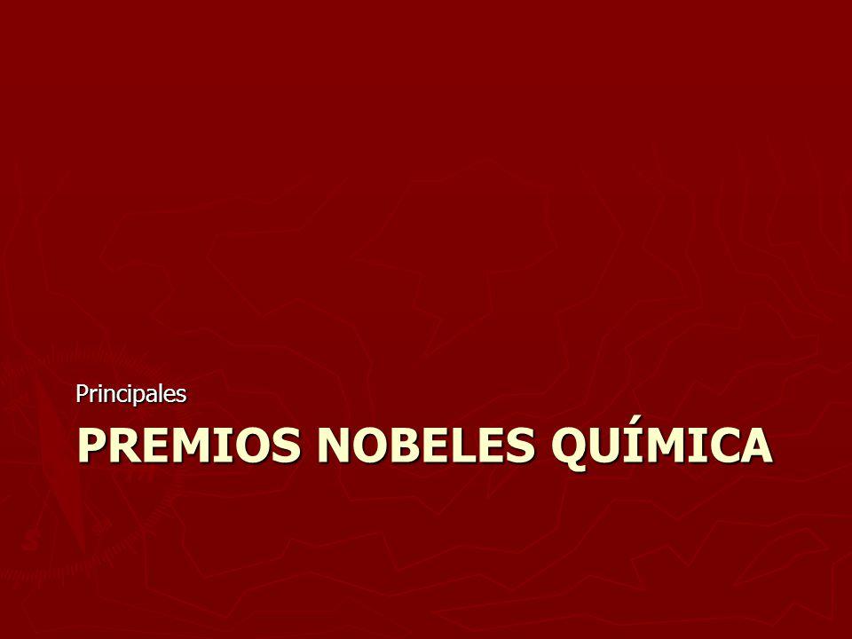 Premios Nobeles Química