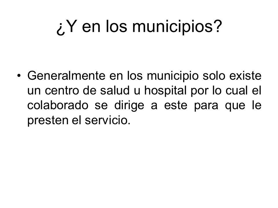 ¿Y en los municipios