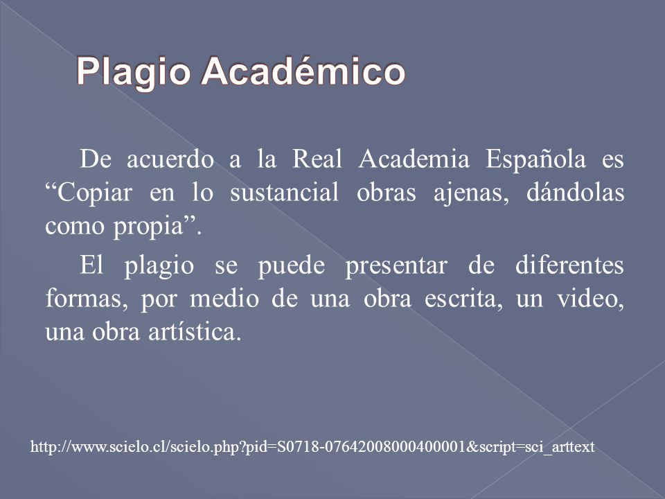 Plagio Académico