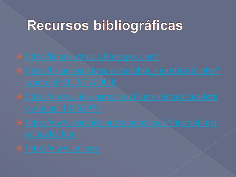 Recursos bibliográficas