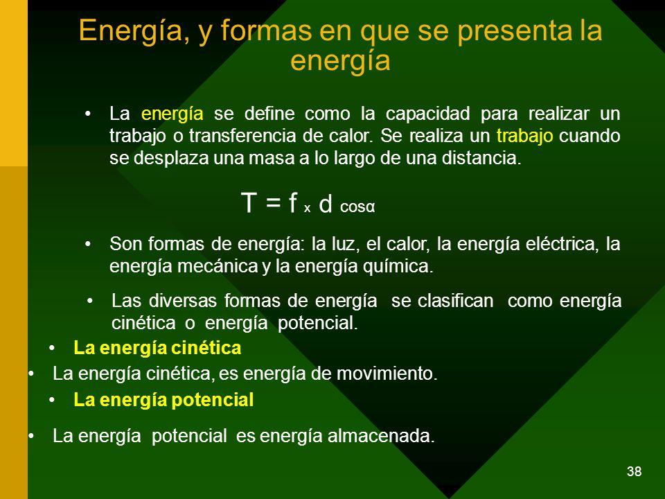 Energía, y formas en que se presenta la energía
