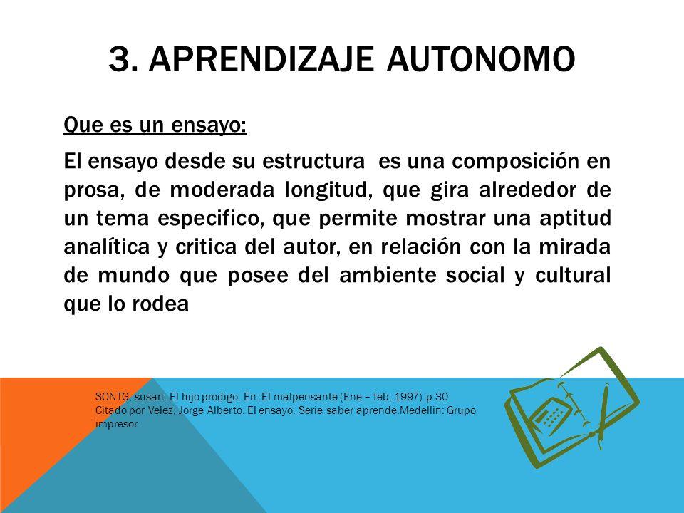 3. APRENDIZAJE AUTONOMO