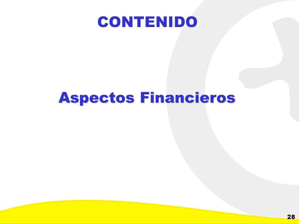 CONTENIDO Aspectos Financieros