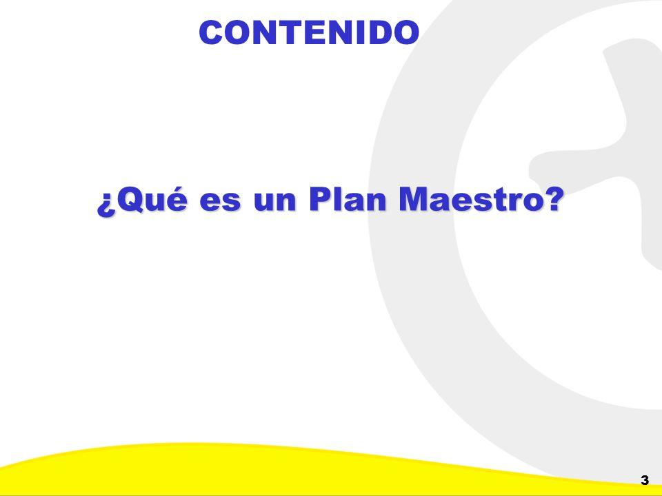 CONTENIDO ¿Qué es un Plan Maestro
