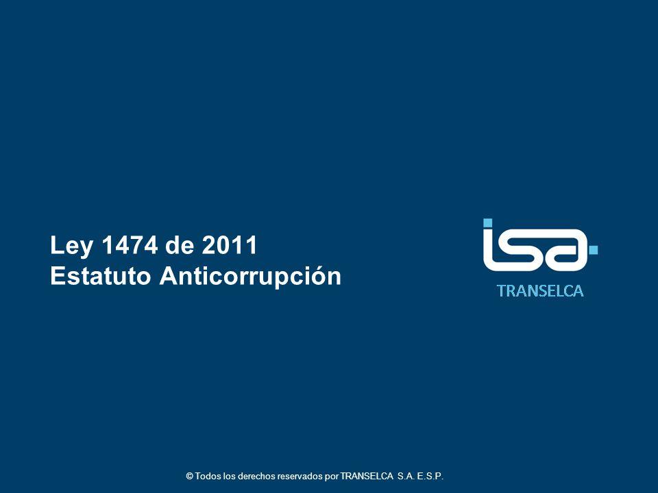 Ley 1474 de 2011 Estatuto Anticorrupción