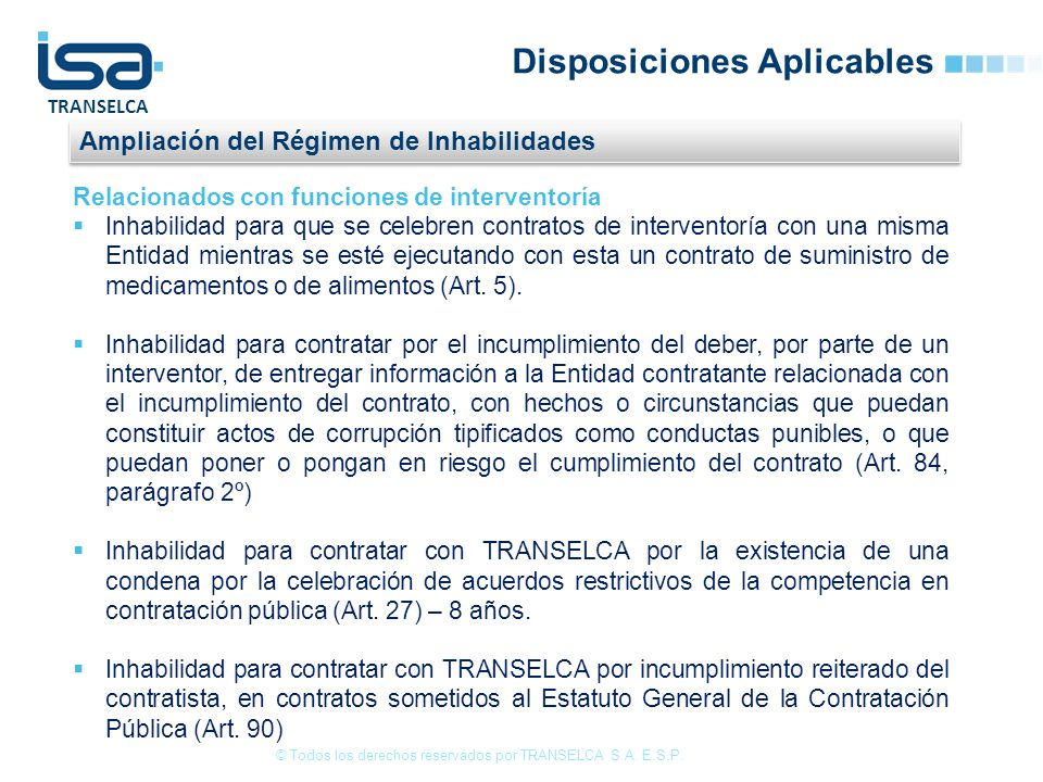 Disposiciones Aplicables