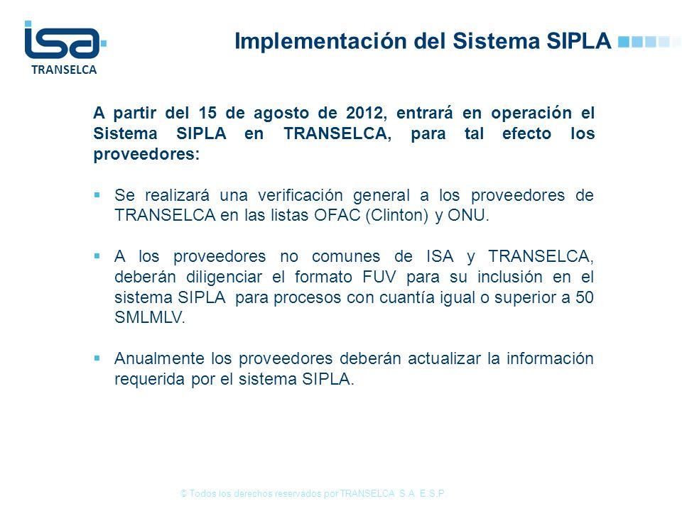 Implementación del Sistema SIPLA