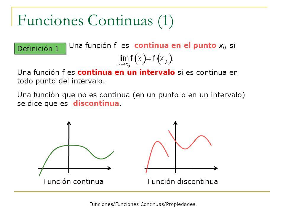 Funciones Continuas (1)