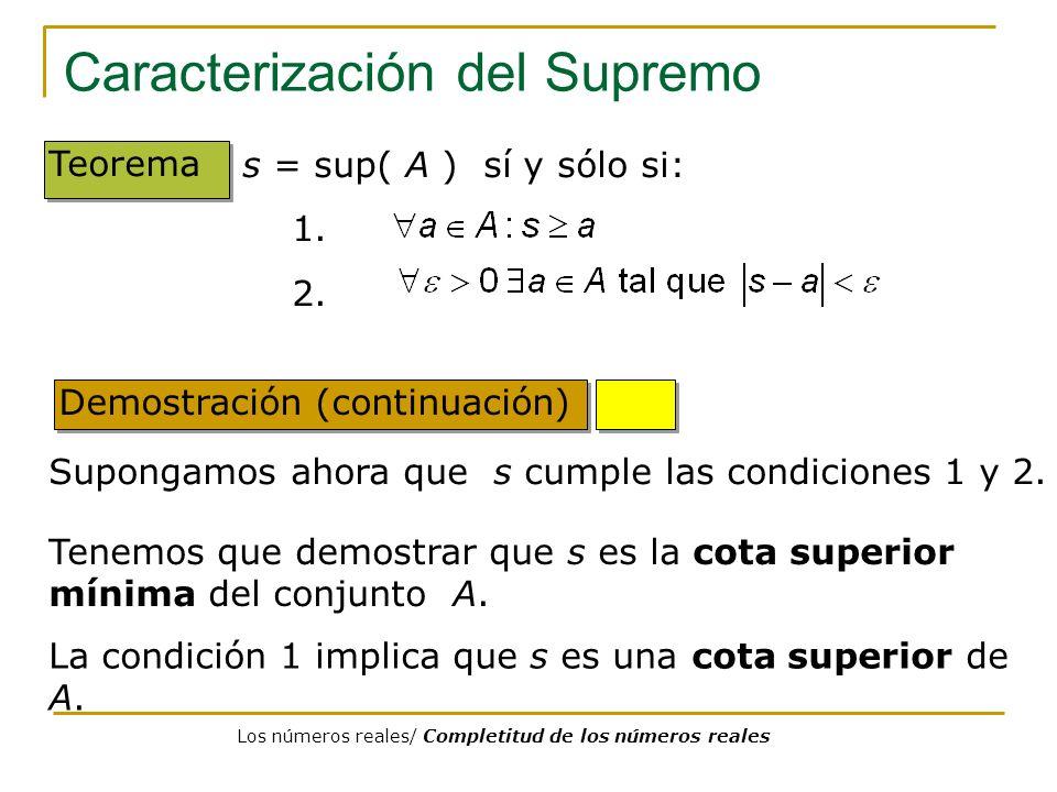 Caracterización del Supremo
