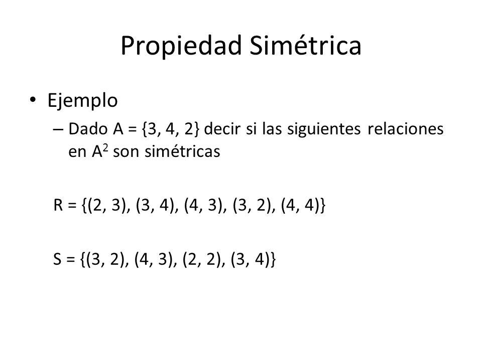 Propiedad Simétrica Ejemplo