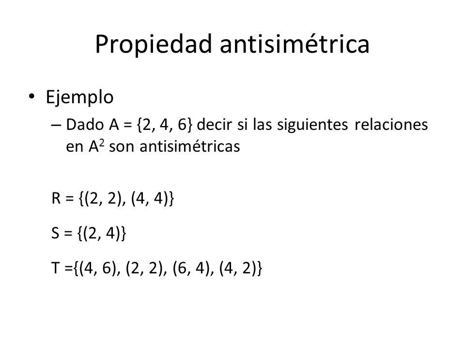 Propiedad antisimétrica