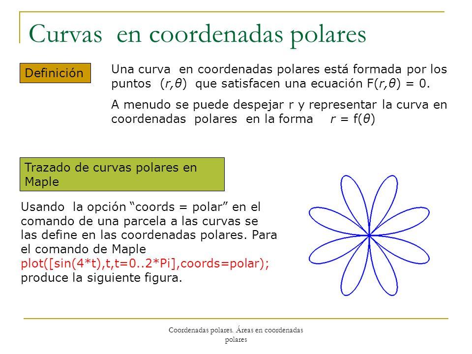 Curvas en coordenadas polares