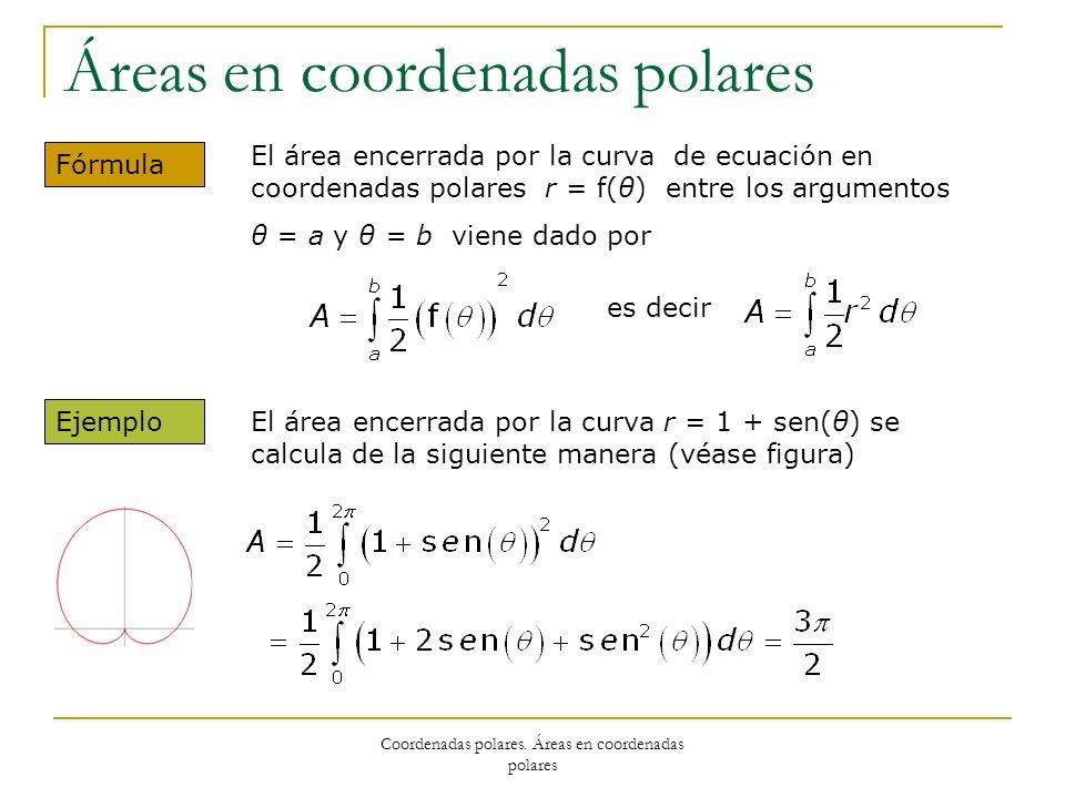 Áreas en coordenadas polares